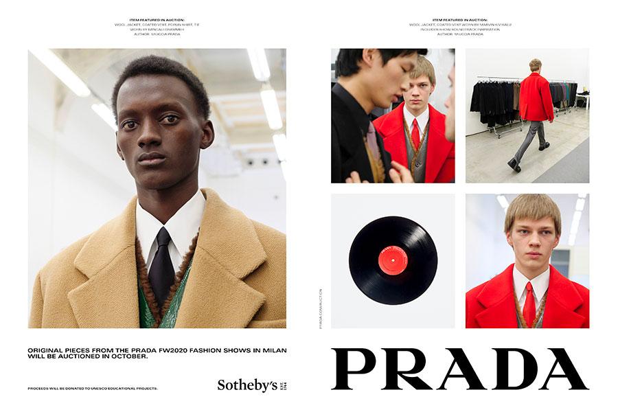 Campagne Prada Automne/Hiver 2020 en partenariat avec Sotheby's