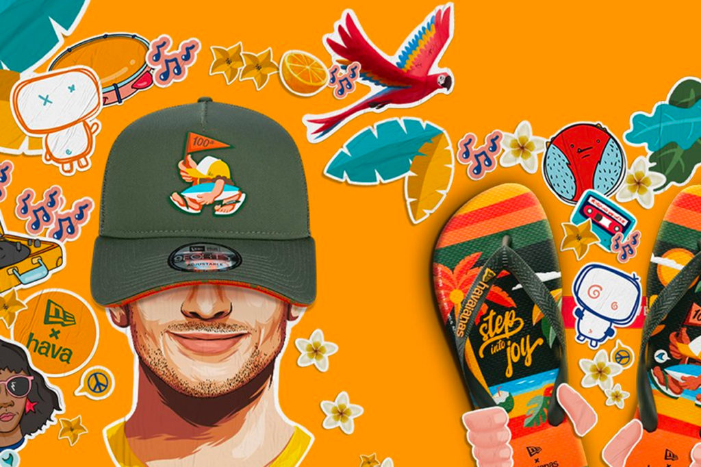 "Collection Havaianas x New Era ""Step into Joy"""