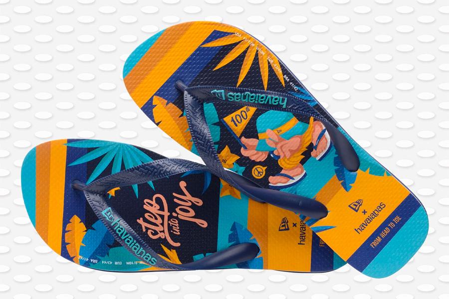 "Collection Havaianas x New Era ""Step into Joy"""