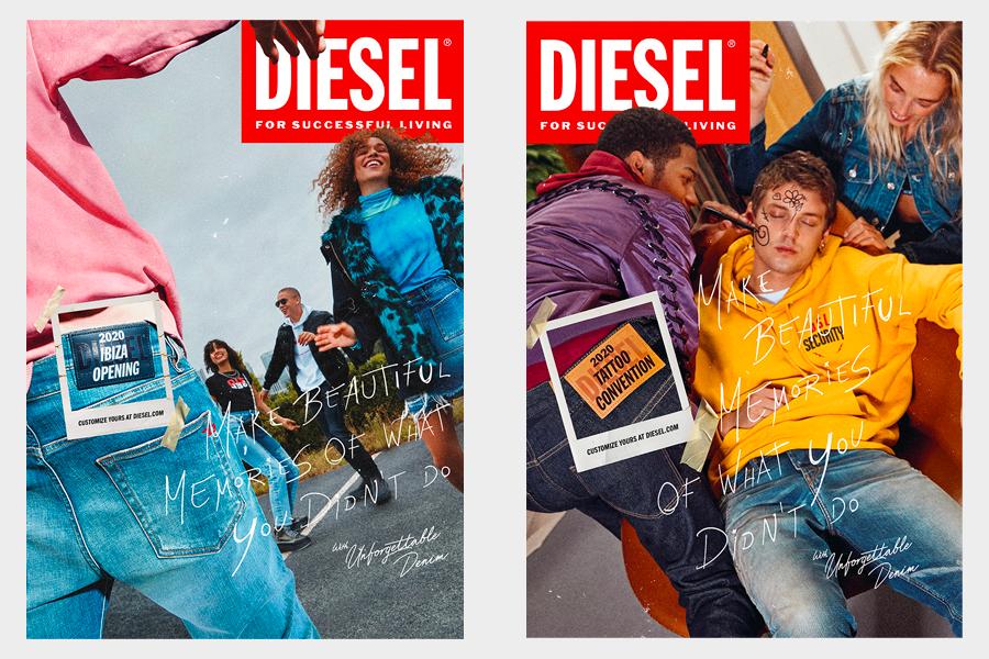 Campagne Diesel Unforgettable Denim Automne/Hiver 2020
