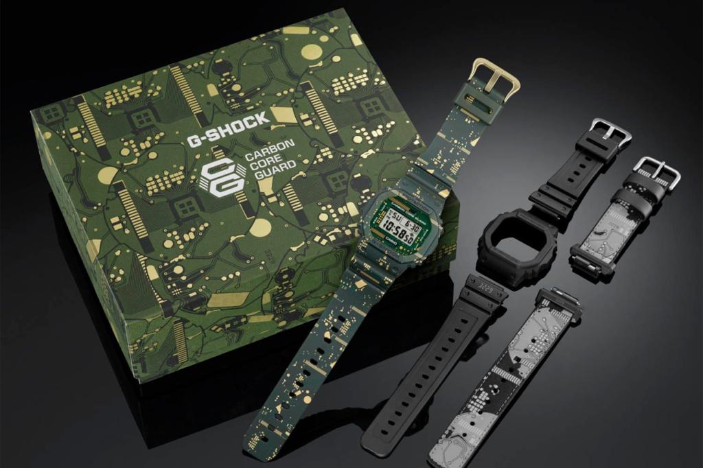 G-Shock DWE-5600CC avec bracelets et lunettes interchangeables