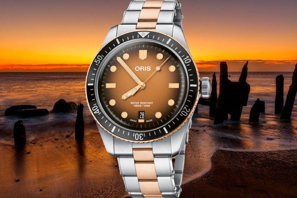"""Montre Oris Divers Sixty-Five """"Sunset Over the Beach"""""""