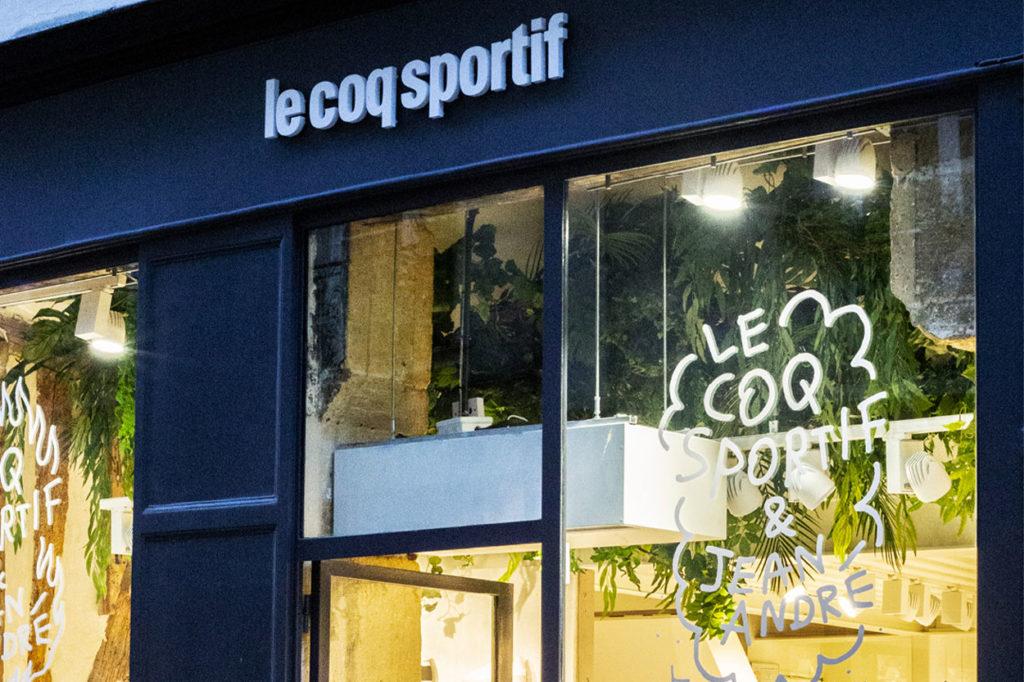 pop-up store le coq sportif