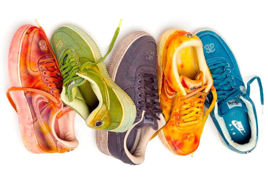 "Édition limitée Stüssy x Nike Air Force 1 ""Hand-Dyed"""