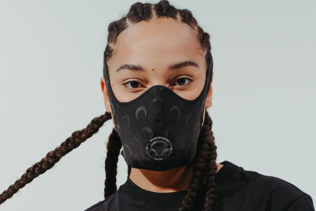 Marine Serre x R-PUR Reflective Moon Face Mask