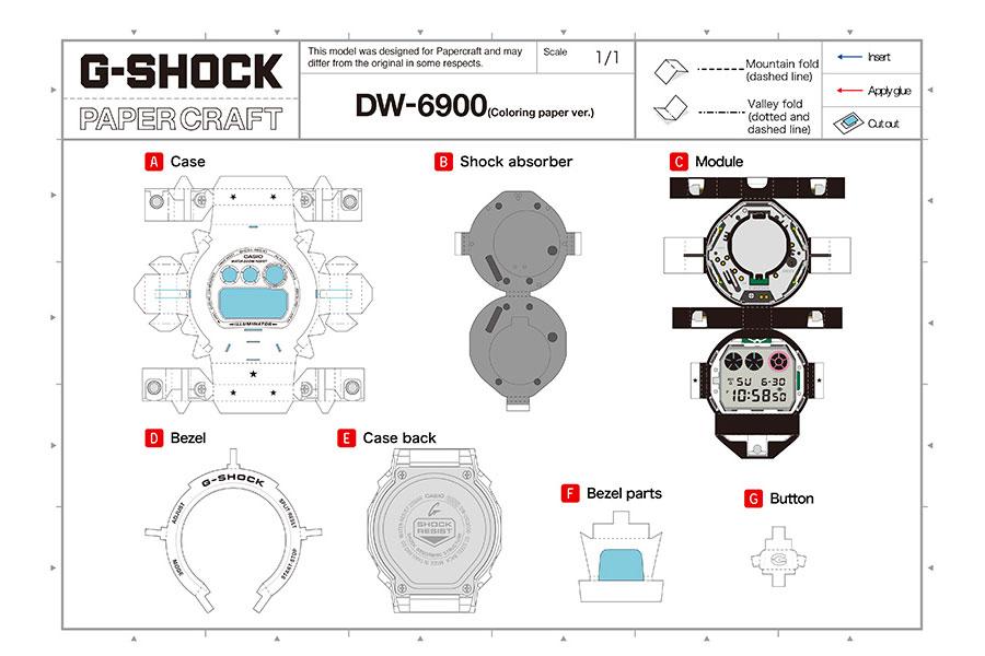"G-Shock ""Papercraft"" DW-6900"