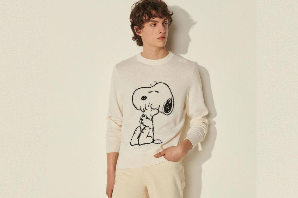 Collection Sandro Homme x Snoopy Printemps/Été 2021