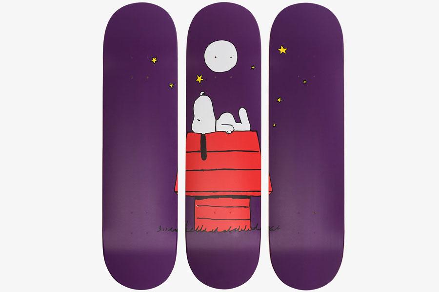 Planches de skate en édition limitée The Skateroom x Peanuts