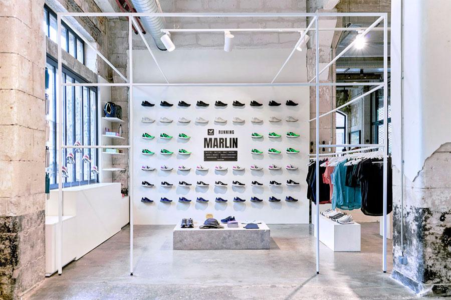 Pop-up store running Veja x DARWIN