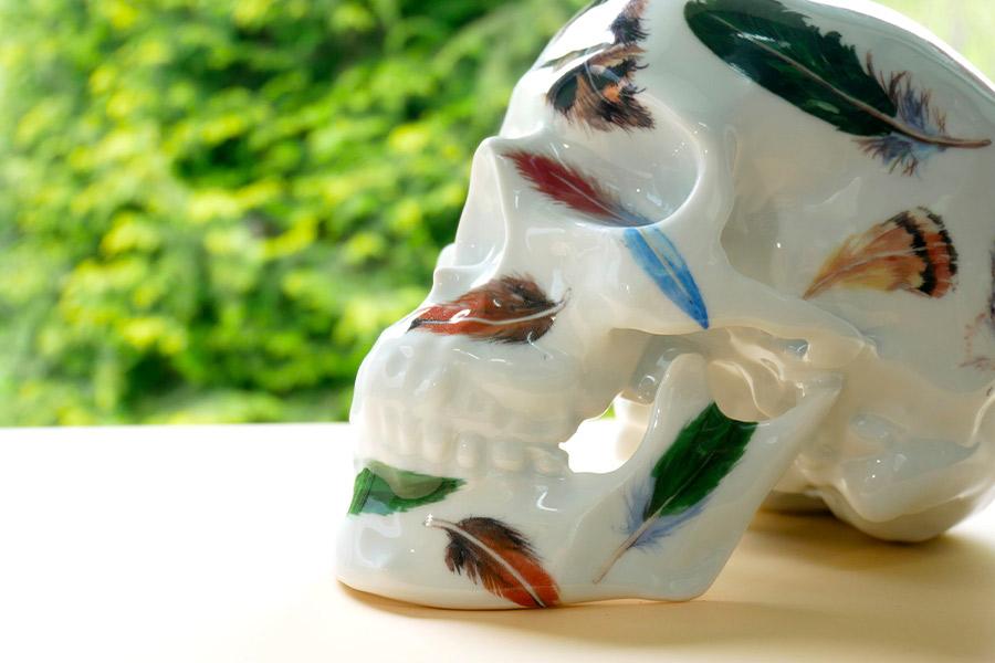 Sculpture « Skull Feathers » NooN x K.Olin Tribu