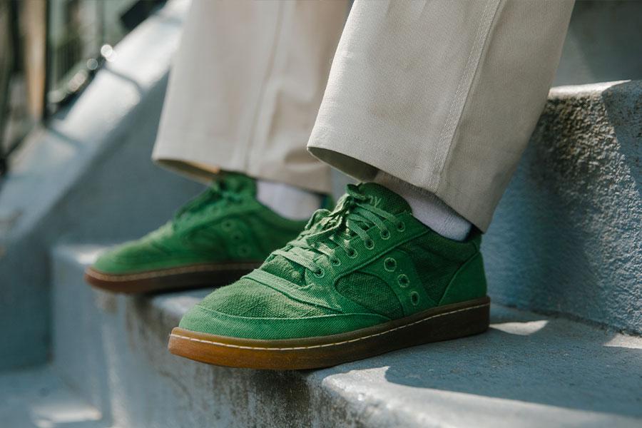 Saucony Jazz Court RFG Black et Green